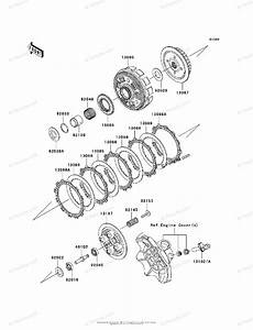 Kawasaki Motorcycle 2010 Oem Parts Diagram For Clutch
