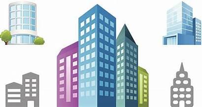 Vector Building Clip Business Park Center Illustrations