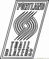 Coloring Blazers Trail Portland Nba Pages Coloringpages101 Whitesbelfast Pdf Sports sketch template