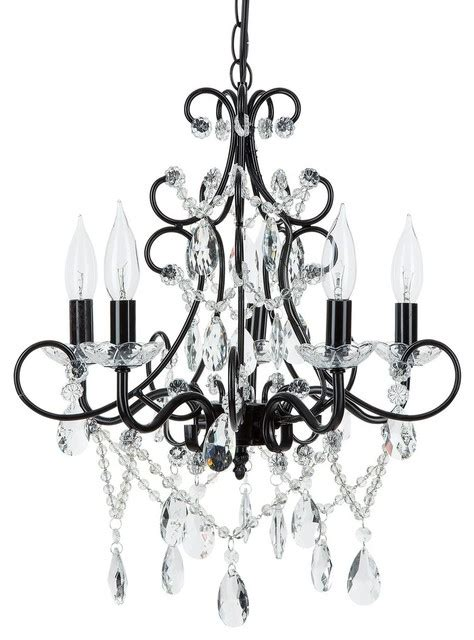 Black Wrought Iron And Chandelier by Theresa 5 Light Wrought Iron Chandelier Black
