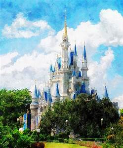 Cinderella Castle Painting by Sandy MacGowan