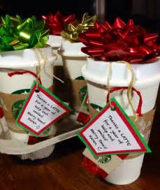 thanks a latte fun and inexpensive gift starbucks reusable cups filled with candy added 5