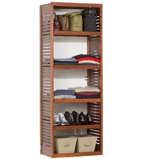 deluxe closet tower kit in ventilated wood closet system