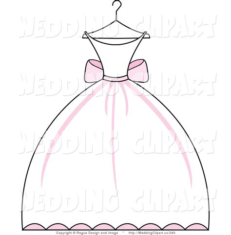 wedding dress outline    clipartmag