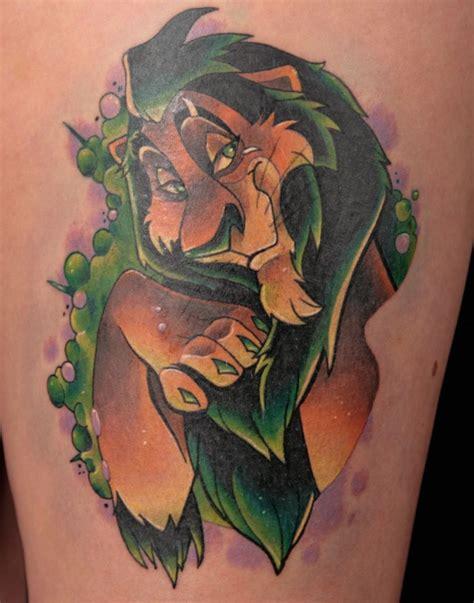 adorable scar lion king disney tattoo disney inspired
