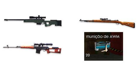 fire armas  suas municoes mobile gamer tudo