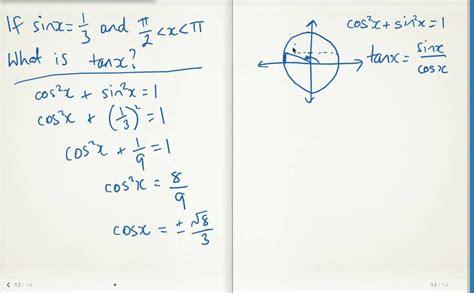 Finding Sin(x), Cos(x) Or Tan(x)