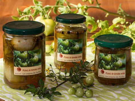 pickles de tomates vertes recette par jackie