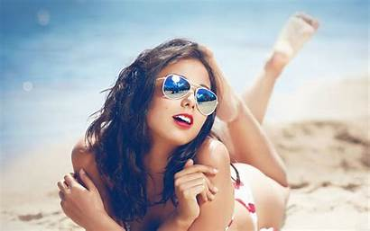 Beach Summer Sunny Sunglasses Papers 4k Wallpapers