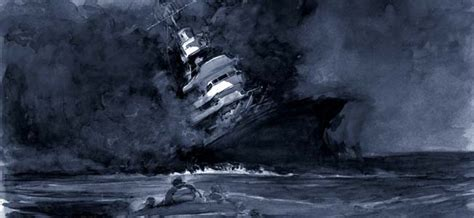 Uss Indianapolis Sinking Sharks by Warfare History Network 187 Memories From The Uss