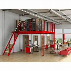 Mezzanine Metallique En Kit : mezzanine tm 15 avec escalier droit m ~ Premium-room.com Idées de Décoration