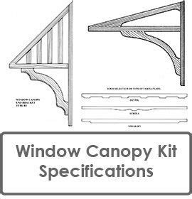 window canopy  window awning kit  door canopy kit specifications projects