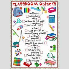 Classroom Object  Interactive Worksheet