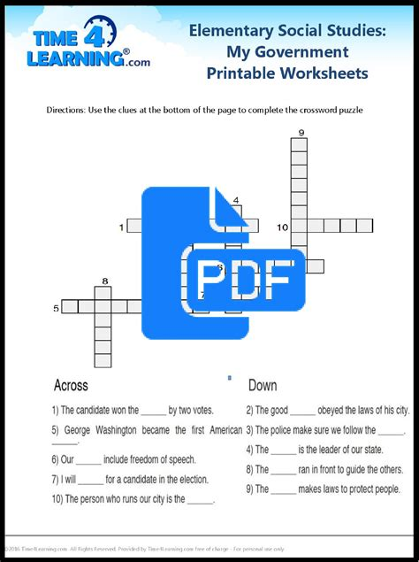 Free Printable Elementary Social Studies Worksheet Time4learning