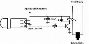 Pir Motion Sensor Detector Controls Solenoid Valve