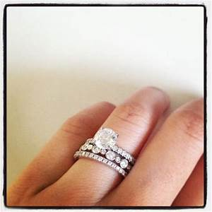 wedding ring stack engagement rings pinterest With stacking wedding rings