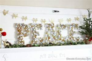 Peace Bell Letters & Christmas Mantle