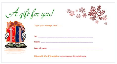Gift Certificate Template Word Gift Certificate Template Save Word Templates