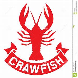 Crawfish label stock image Image of dinner delicacy