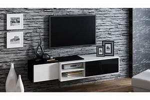 Meuble tv suspendu ligna chloe design for Deco cuisine pour meuble tv suspendu