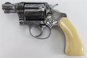 Deeply Engraved Ivory Gripped Colt Banker U0026 39 S Special  38