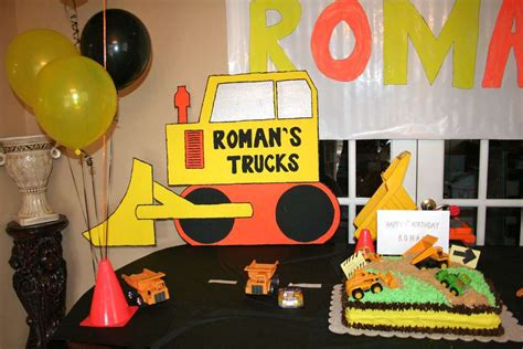 construction truck themed 1st birthday party planning ideas tonka truck birthday party ideas photo 18 of 30 catch