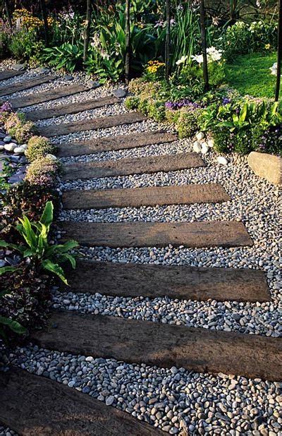 path ideas railway sleepers and gravel path