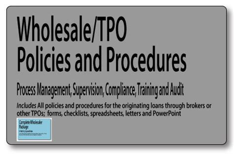 Anti Money Laundering Sar Reporting Mortgage Policies Mortgage Wholesale Tpo Policies And Procedures