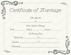 marriage certificate templates printable certificate designs With wedding certificate templates free printable