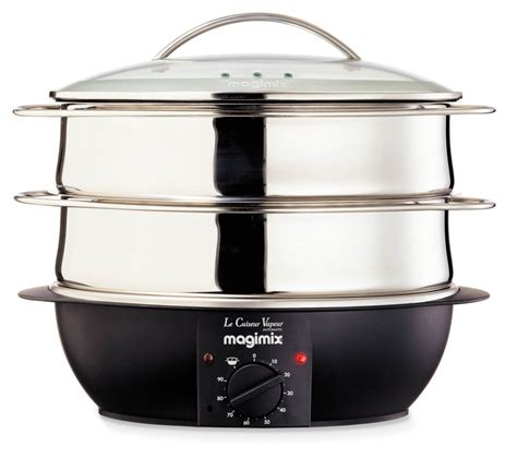 cuisine kenwood magimix cuiseur vapeur électrique 2 paniers inox
