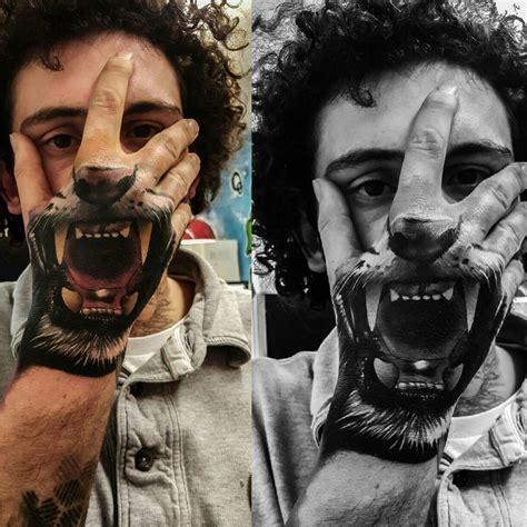 tiger mouth hand tattoo  tattoo design ideas