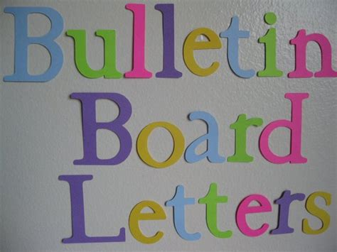 die cut letters items similar to die cut letters bulletin board letters 16913