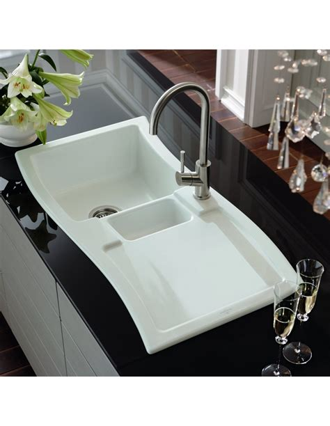 villeroy and boch kitchen sink new wave ceramic sink by villeroy boch 1 5 bowl 8817