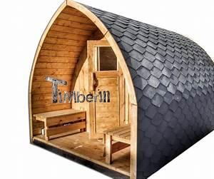 Jardin exterieur sauna en bois igloo avec des poeles for Sauna de jardin en bois