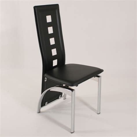 chaise simili cuir noir decoration chaises simili cuir noir lot de chaises simili cuir bilbao noir le design c chaise