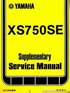 1978 Yamaha Xs750se Service Manual Supplement