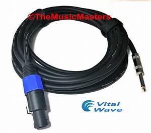 30 U0026 39  Ft 12ga Speakon To 1  4 U0026quot  Male Plug Speaker Cable Wire