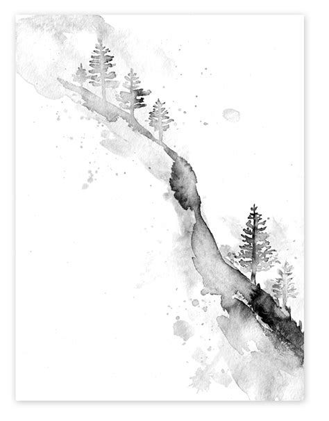 Also, another stunning watercolour tattoo option | Watercolor trees, Mountain tattoo, Watercolor