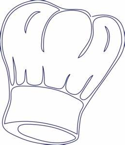 printable chef hat template - outlined chef hat clip art at vector clip art