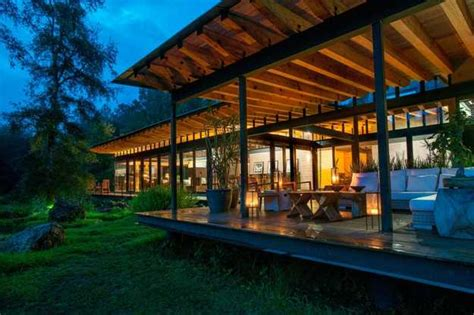 spectacular modern house design delights  wood  glass architectural elements