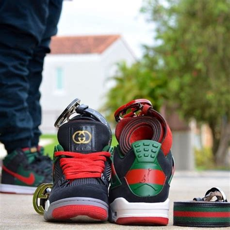 air jordan gucci customs customs pr sneakerfiles