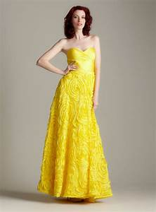 yellow gown dressed up girl With yellow evening gowns wedding