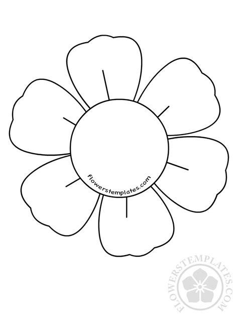 petal flower template cuttable flowers templates