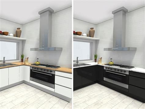 design kitchen cabinet layout plan your kitchen with roomsketcher roomsketcher 6569