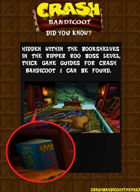 Crash Bandicoot Meme - crash bandicoot memes crash bandicoot did you know crash bandicoot 2 cortex strikes back