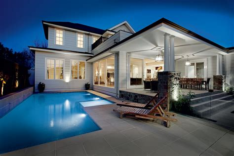 luxury house plans with pools glen iris storey htons style home canny