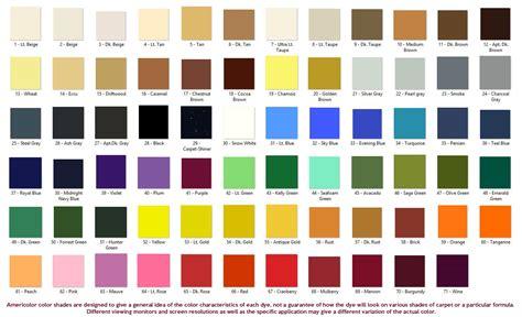 carpet color 5th generation carpet dye americolor dyes