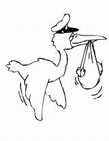 Stork Coloring Pages Colouring Birds Storks sketch template
