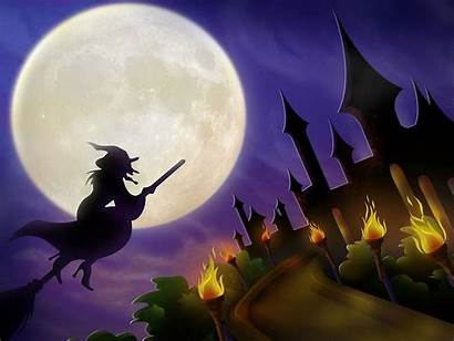 Halloween Scary Witches Witch Wallpapers Ghosts Bats