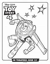 Coloring Toy Buzz Lightyear Printable Disney Blogx sketch template